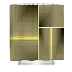 Composition 64 Shower Curtain by Terry Reynoldson