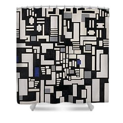 Composition Ix Shower Curtain by Theo Van Doesburg