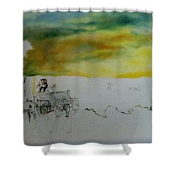 Composition2 Shower Curtain