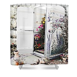 Compost Making Shower Curtain