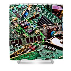 Computer Parts Shower Curtain