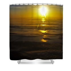 Conanicut Island And Narragansett Bay Sunrise II Shower Curtain