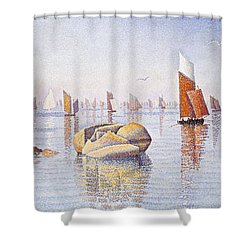Concarneau   Quiet Morning Shower Curtain by Paul Signac