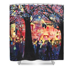 Concert On The Mall Shower Curtain by Leela Payne