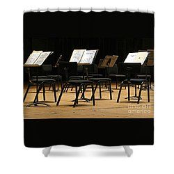 Concert Time Out Shower Curtain by Ann Horn