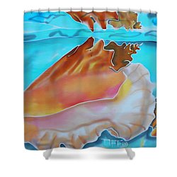 Conch Shallows Shower Curtain
