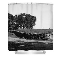 Concord: Meriams Corner Shower Curtain by Granger