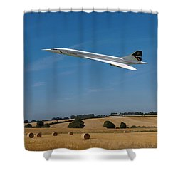 Concorde At Harvest Time Shower Curtain