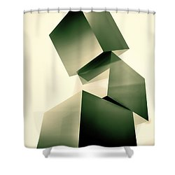 Condescending Cubes Shower Curtain by Bob Orsillo