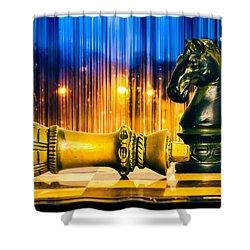 Condescending Knight Shower Curtain by Bob Orsillo