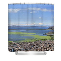 Condor Hill, Puno, Peru Shower Curtain