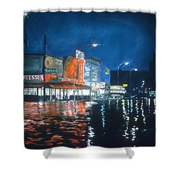 Coney Island Shower Curtain by Anthony Butera