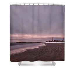 Coney Island Bound Shower Curtain by Evelina Kremsdorf
