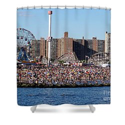 Shower Curtain featuring the photograph Coney Island by Ed Weidman
