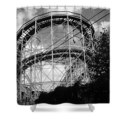 Coney Island Roller Coaster Shower Curtain