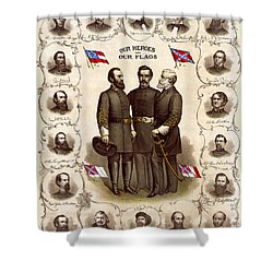 Confederate Generals And Flags Shower Curtain