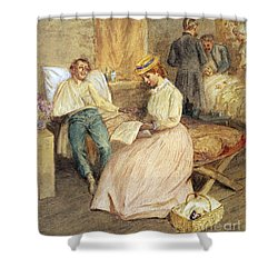 Confederate Hospital, 1861 Shower Curtain by Granger
