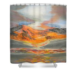 Confetti Mountain Shower Curtain by Tim Townsend