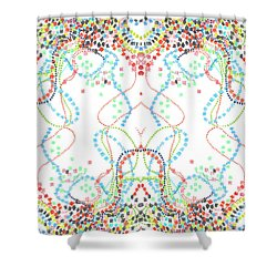 Shower Curtain featuring the drawing Confetti Rorschach by Carol Jacobs
