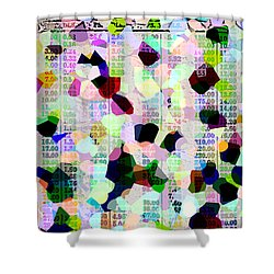 Confetti Table Shower Curtain by Ecinja Art Works