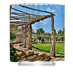 Confluence Park Delta Colorado Shower Curtain by Janice Rae Pariza