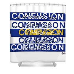 Confusion Shower Curtain by Agustin Goba