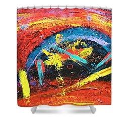 Shower Curtain featuring the painting Confusion by Carolyn Repka