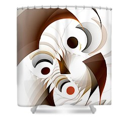 Confusion Shower Curtain by GJ Blackman