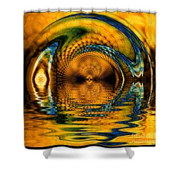 Confusion Of Distortion  Shower Curtain by Elizabeth McTaggart