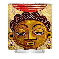 Congalese Face 1 Shower Curtain
