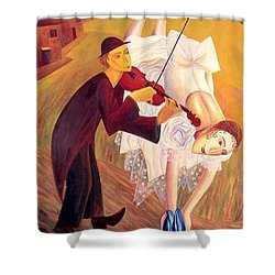 Conjured Melodies Shower Curtain