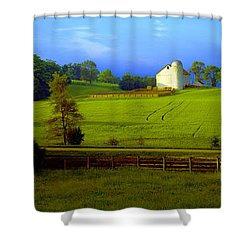 Conley Road Farm Spring Time Shower Curtain