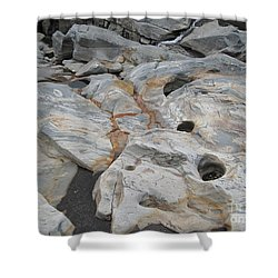 Connecticut River Bed Shower Curtain