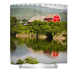 Connecticut River Farm Shower Curtain