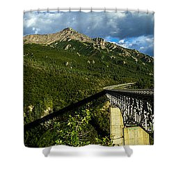 Connecting Life Shower Curtain by Chad Dutson