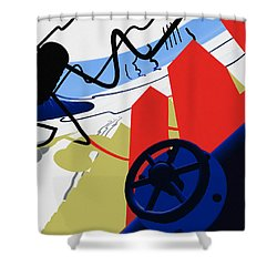 Connections Shower Curtain by Richard Rizzo