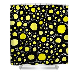 Connectivity In Yellow Shower Curtain