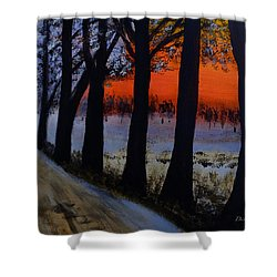 Conrad Road Sunrise Shower Curtain