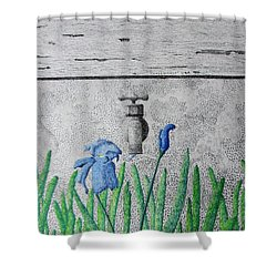 Consequence Shower Curtain by A  Robert Malcom