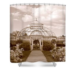 Conservatory- Sepia Shower Curtain