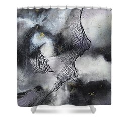 Constellation Shower Curtain by Deborah Ronglien