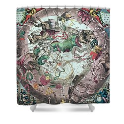 Constellations Of The Southern Hemisphere, From The Celestial Atlas, Or The Harmony Of The Universe Shower Curtain by Andreas Cellarius