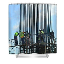 Construction4 Shower Curtain by Leon Hollins III