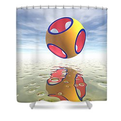 Constructive Solid Geometry Csg Shower Curtain by Carol and Mike Werner
