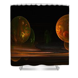 Consumed From Within Shower Curtain by GJ Blackman