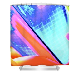 Consuming The Grid Shower Curtain by Xn Tyler