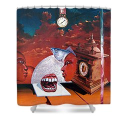 Consumption Of Time  Shower Curtain by Otto Rapp