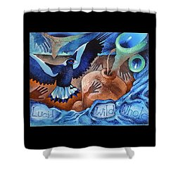 Container Of The Winds Shower Curtain