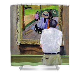 Contemplating Gauguin Shower Curtain by Michael Daniels