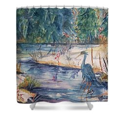 Contemplating Lunch Shower Curtain
